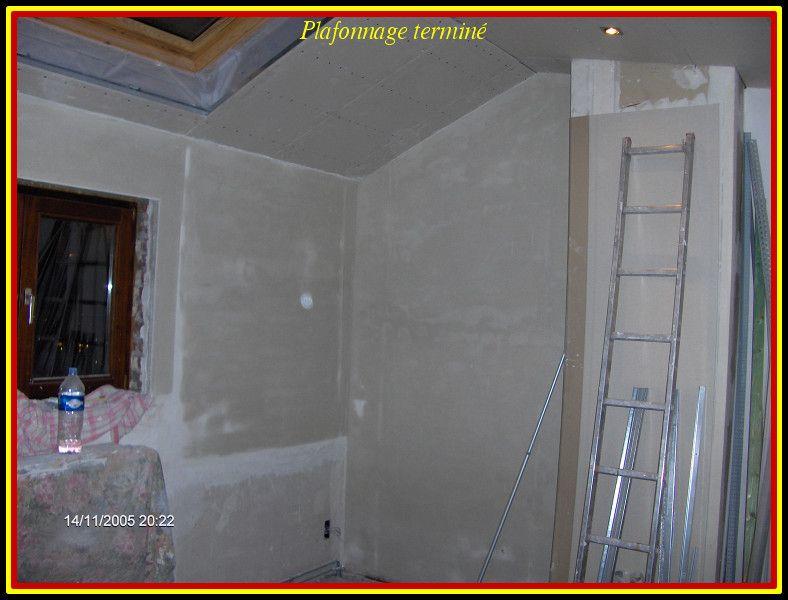 Plafonnage des murs termin for Plafonnage mur exterieur